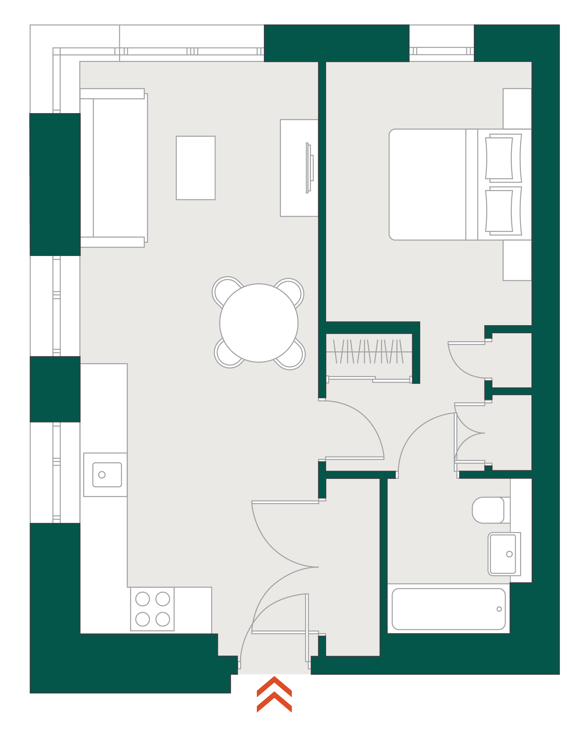 Blackhorse Mills 1 Bedroom WYG & floor plan typical floor plan